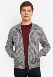 Topman black Black And White Gingham Jacket TO413AA0SAF1MY_1