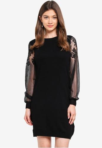 ONLY black Viktoria L/S Lace Dress 72FBFAA63D84CBGS_1