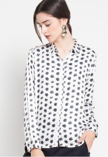 EDITION black and white Polkadot Blouse ED101AA66RKFID_1