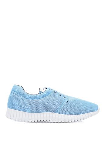 Life8 blue Water Repellent Macaron Weave Elastic Sneakers-09620-Blue LI286SH0RNR6MY_1