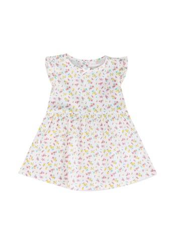 FOX Kids & Baby white Off White Printed Jersey Dress EA1EFKAD3B53BBGS_1