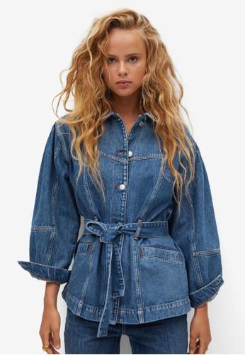 Mango blue Oversize Denim Jacket 5CD63AA78D15F3GS_1