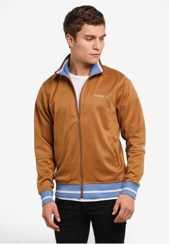 Stussy brown Poly Track Jacket ST135AA0ROKUMY_1