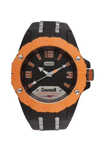 Sk Time Watch Shop orange Comandor Water Resistant Sport Watch B732BAC310B04BGS_1