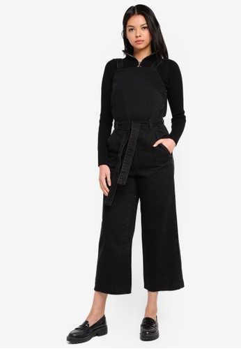 8533fae0f0a Buy TOPSHOP Belted Denim Jumpsuit Online on ZALORA Singapore