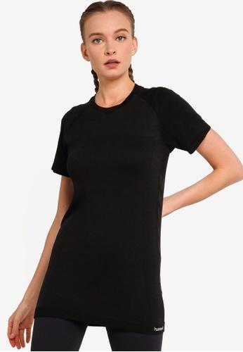 Hummel black Clea Seamless T-Shirt 182CDAADE00C83GS_1