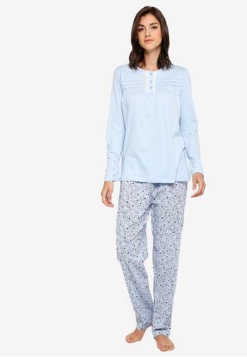 52cc2fb64 Buy OVS Cotton Blend Pyjamas With Frills Online on ZALORA Singapore