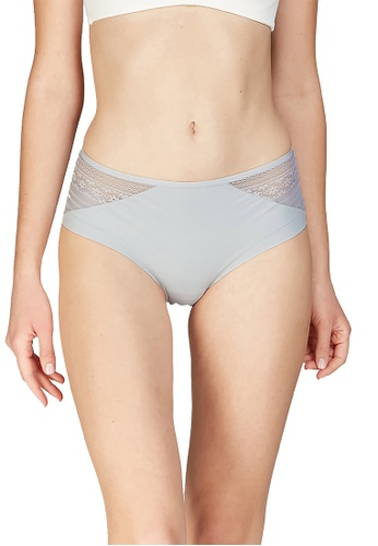 6IXTY8IGHT green BROOKIE SOLID, Soft Micro Hiphugger Panty PT09403 670A9USEDA7037GS_1