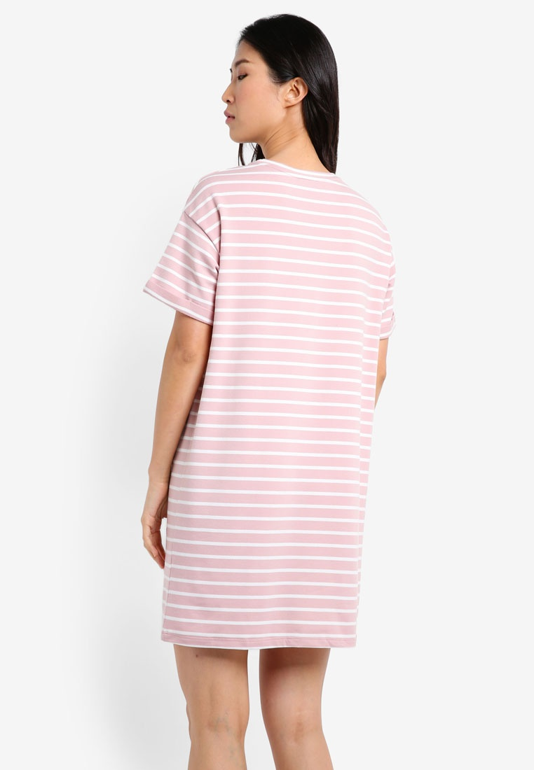 amp; Essential Shirt amp; Pink 2 Pack T Dress Stripe BASICS White ZALORA Navy Stripe White 8AtZBn5x
