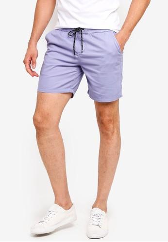 Penshoppe blue Drawstring Shorts 58F41AA9F9A53EGS_1