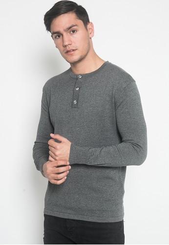 Noir Sur Blanc grey Men Sweater Long Sleeve 2D684AAD8A4BDEGS_1