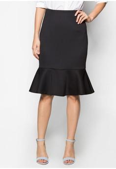 Collection Fluted Hem Midi Skirt
