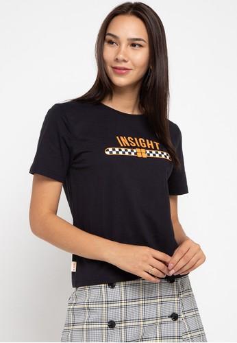 Insight black Insight Kaos Wanita Lengan Pendek Hitam Checkered Tape Detail Tee Planet Surf DC031AA2FE34F2GS_1