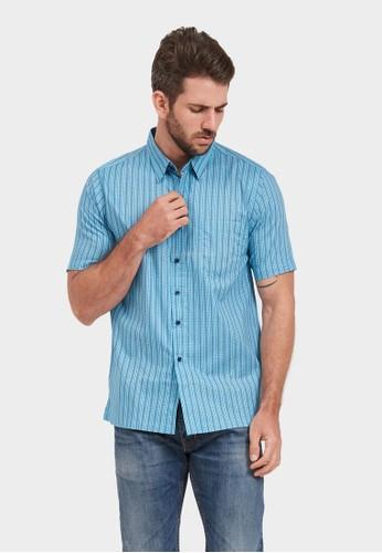 BRITANIA blue BRITANIA Short Sleeve Print Shirt 1006 53304AA88E130EGS_1