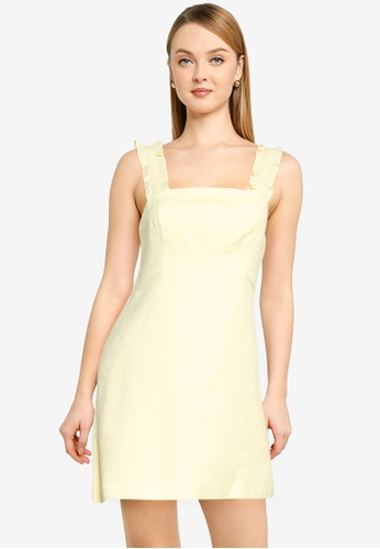 Forever New yellow Petite Demi Linen Frill Mini Dress 60B13AA57F06C1GS_1