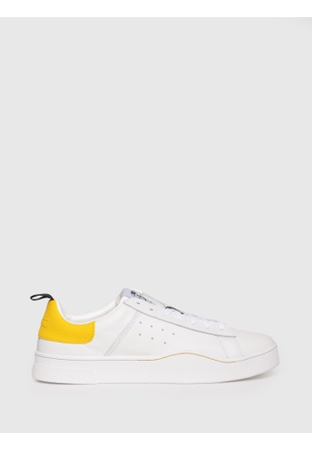 Diesel white S-Clever Low Lace Shoes BC32ESH2BB7FEFGS_1
