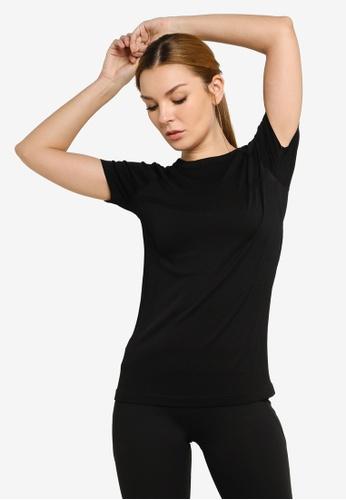 Lorna Jane black Perform Seamless Short Sleeve Top 86A50AA432BA64GS_1