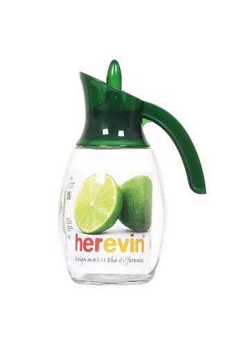 Herevin Herevin 1600ML Liquid Dispenser / Glass Jug with Lid / Fridge Jug / Glass Pitcher / Glass Jug / Juice Pitcher - Purple / Green / Red 20796HL481FA2FGS_1