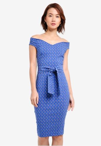 Vesper blue Vesper Carley Tie Waist Midi Dress 699E4AA3F7A618GS_1