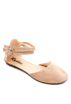 Ankle Strap Round Flats