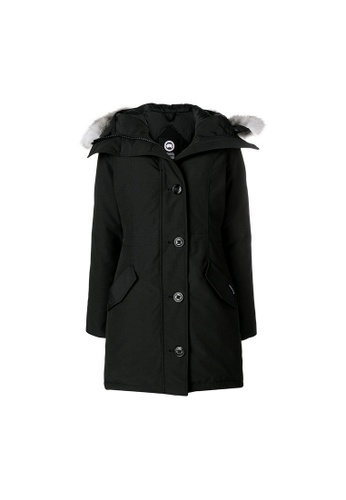 Canada Goose black Canada Goose Rossclair Down Coat in Black F343EAA15F9B3DGS_1