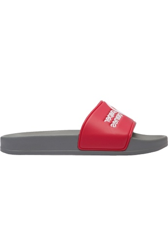 paperplanes grey and red Paperplanes-1357 Daily Comfort Casual Slippers Shoes US Women Size PA355SH95QNSSG_1