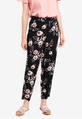 Pieces black and multi Inea Ankle Pants 2B493AA4B0A767GS_1