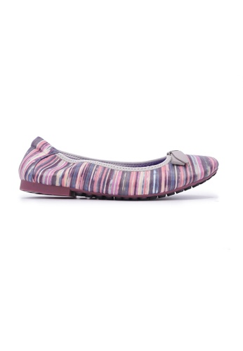 Flatss & Heelss by Rad Russel purple Textured Stripe Flats - Purple 286C3SH0E8634EGS_1