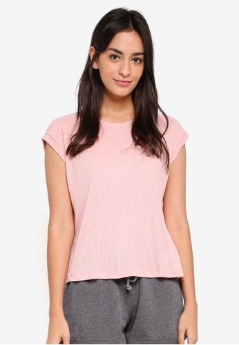 Cotton On Body pink Rib Boxy T-Shirt 28FE6AA9747AD6GS_1
