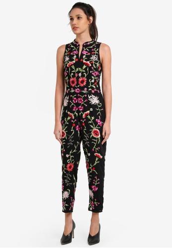 Miss Selfridge multi Premium Floral Embroidered Jumpsuit MI665AA0RX9JMY_1