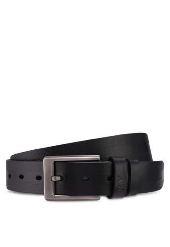 RAV Design black 35MM Leather Belt BBD40ACD6A1230GS_1