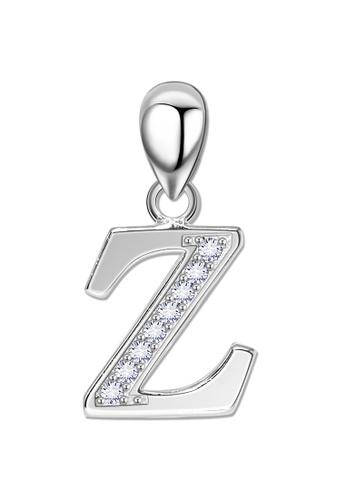 SC Tom Silver silver Letter Stone Pendant SC872AC0JJ2XPH_1