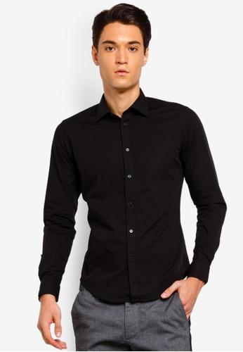 ESPRIT 黑色 長袖襯衫 E074DAA161B255GS_1
