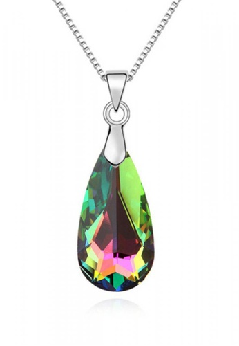 LOVENGIFTS green Gently Tear Drop Pendant Necklace (Emerald Green) 1EFDFAC502C727GS_1