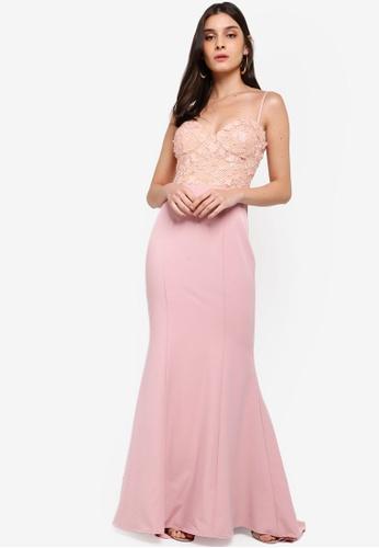 JARLO LONDON pink Lilou Dress 53217AA72B92DAGS_1