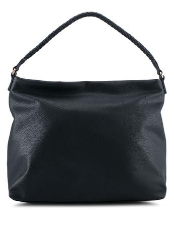 ZALORA black Medium Size Hobo With Braided Strape 0E5B6AC9FDD9FAGS_1