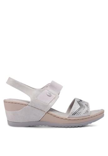 Bata 灰色 休閒繞帶楔型鞋 A70FDSH6496005GS_1