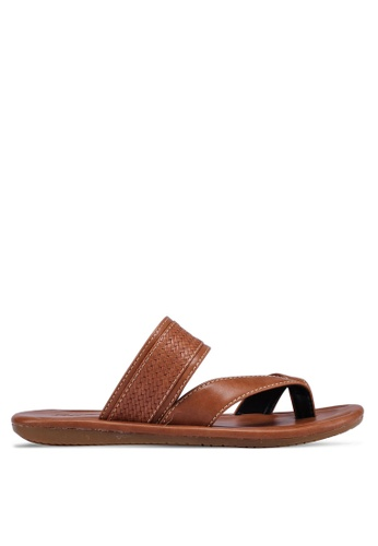Bata brown Slide On Sandals 1DA1FSH9C52FE1GS_1