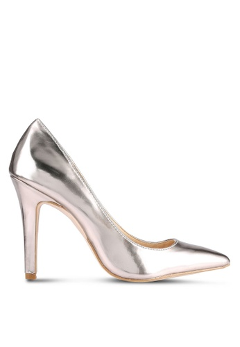 Something Borrowed gold Metallic Heel Pumps 1EFE8ZZC691415GS_1