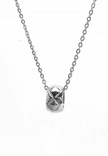 CELOVIS silver CELOVIS - Nova Starshine Pattern Barrel Pendant Necklace (Silver) 0AC71AC36B971AGS_1