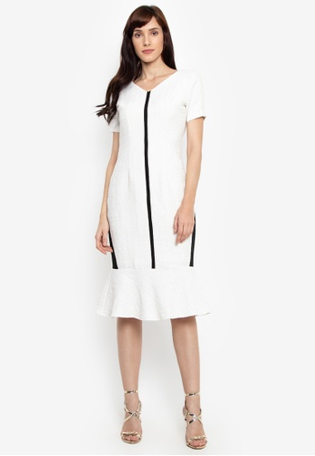 a17c96c75ef Fatima Beltran Clothing Line white Drop Ruffle Linen Dress  F8BA1AA65ED3B2GS 1. CLICK TO ZOOM
