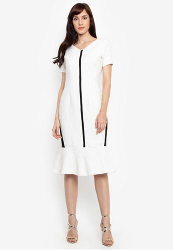 Fatima Beltran Clothing Line white Drop Ruffle Linen Dress F8BA1AA65ED3B2GS_1