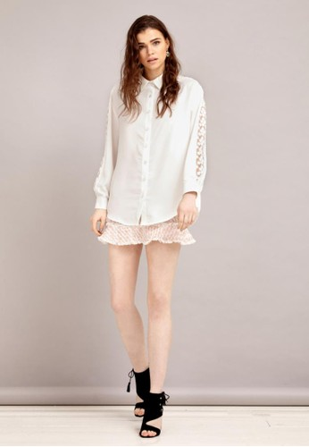鏤空絲質襯衫, zalora 評價服飾, 襯衫