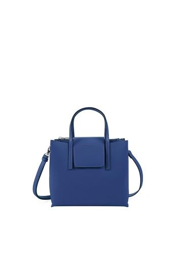 Rabeanco blue RABEANCO LUCIA BOXY Small Satchel - Inky Blue E0732AC437F044GS_1