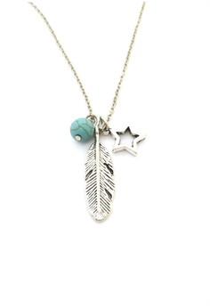 Feather and Star Necklace
