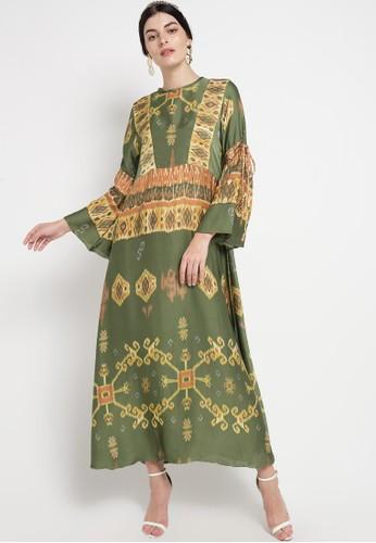 Kamilaa by Itang Yunasz green and multi Gamis Etnik E4B42AAF8F8831GS_1