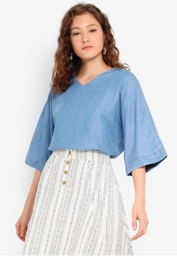 ESPRIT Blue Ditsy Floral Print Womens ShortsSALEWas £25