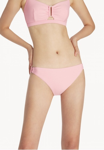 Pomelo pink Side Ring Bikini Bottom - Pink D701DUSAC42193GS_1