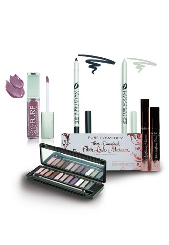 Pure Cosmetics black and white and red and pink and blue and purple and multi and silver and beige and brown Pure Cosmetics : Day to Night, Ultra Rock n' Roll Make Up Set PU086BE14QRLHK_1