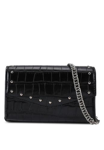 Dorothy Perkins black Black Mini Boxy Stud Crossbody Bag B5F68AC883F114GS_1